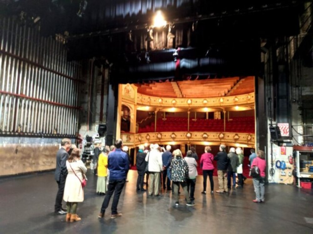 On the Theatre Royal stage