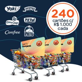20 Cartões Compras Nordestão por mês