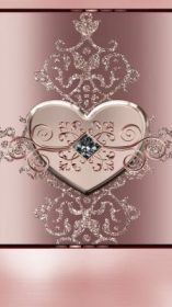 rose gold iphone cute wallpapers backgrounds phone heart mobile bling flowers flower hd hearts unknown artist cellphone background diamond hello