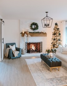 copper gold living room navy rose christmas farmhouse modern