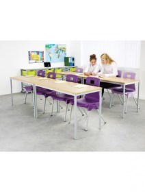 classroom tables md rectangular welded fully metalliform table stacking office furniture 121officefurniture