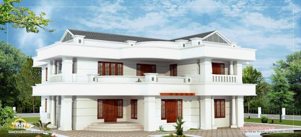 story elevation storey ft sq floor luxury kerala indian houses plans ground square bed rooms attached toilet common decor area
