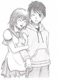 pencil couple sketches drawing drawings sketch couples boy friend anime easy happy gf nugraha cliche forehead painting moment emo kissed