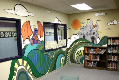 murals elementary outdoor mural wall library schools street walls primary decorations display idea office pflugerville interior themes google tx visit