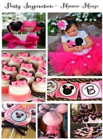 birthday themes party theme minnie mouse creative 1st baby mickey bday parties daughter mylittlemoppet happy adorable