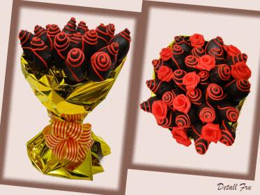 fresas ramos chocolate rosas choco sweet gift added detall fru blanco
