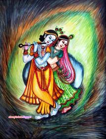 krishna radha lord painting hd shree peacock lovely sri feather god quotes wallpapers feathers harsh malik messages morning vishwaroop 1080p