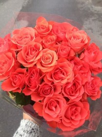 coral rosas roses ramo flores flowers rose bouquet orange ramos flower gentleman grandes yellow gigante thoughts imagui floral bonitas pink