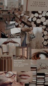 aesthetic brown collage backgrounds wallpapers iphone
