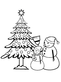 coloring christmas pages trees tree comments