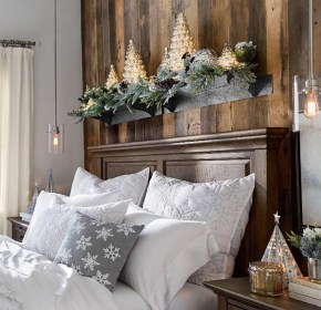 christmas bedroom decorating rustic decor winter bedding country holiday interior theme decorations cabin decorate elegant concepts architecturesideas