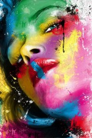 acrylic painting easy canvas beginners colorful paintings try printed face