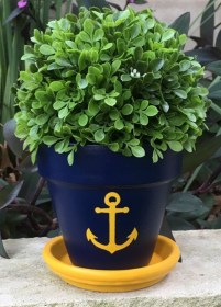 pot flower pots painting designs easy clay painted beginners hand garden etsy terracotta anchor paint plant ceramic source similar