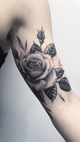rose tattoo tattoos arm forearm bicep mybodiart realistic flower rosa brazo para floral roses tatoos inner mujeres flowers temporary collection