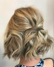 short hairstyles hair hairstyle updo half easy hairdos styles health medium haircuts curly braids blonde wedding main fortuna kasia instagram