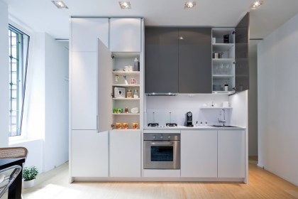Small Space Small One Wall Kitchen Design Novocom Top