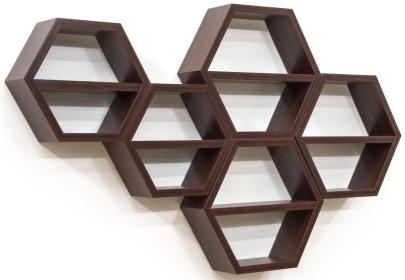 honeycomb hexagon shelves shelf wall shelving floating wood unit displays2go removable maple units display hanging come center category