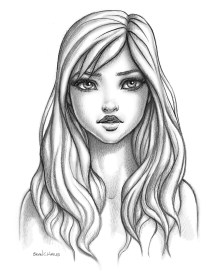 cartoon female drawing draw sketch dessin portrait sketches drawings cheveux artstation faces dessiner realistic pencil hailes brian reference schizzi disegnare