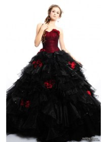 gothic dresses elegant bridal unique goth gown prom gowns strapless ballgown zethy posted hair theme