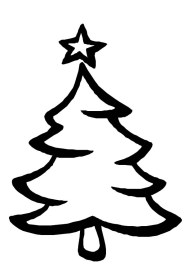 tree christmas drawing coloring easy trees drawings pages simple colour barbie clipartmag luna spruce