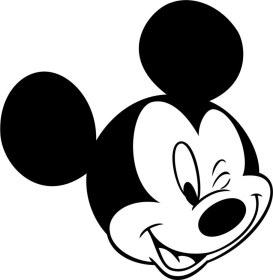 mouse head minnie outline mickey coloring pages clipartmag