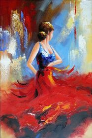 painting canvas beginners easy beginner dancer diy modern flamenco artwork mart craft oil abstract metlan room anatoly fun face paintings