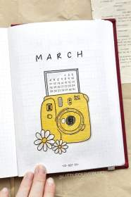 march bullet journal monthly camera bujo covers viola credit