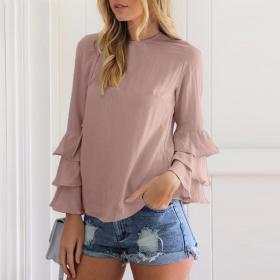 blouses tops shirts ladies casual elegant spring sleeve blusas clothing plus solid neck