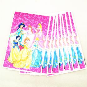 disney bag gift plastic birthday party princess theme candy jewelry lot six snow 10pcs happy favors bags supplies decoration