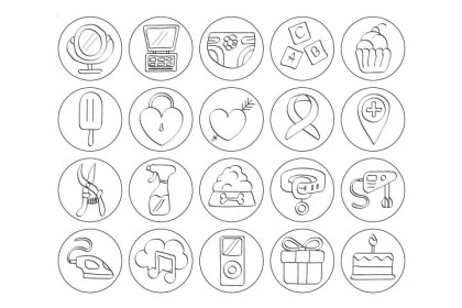 Set Of 20 Highlight Free Instagram Icons Age Themes