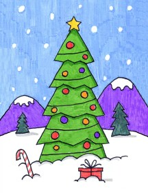 tree christmas draw drawing projects easy artprojectsforkids project articulo bloglovin