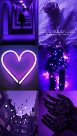 aesthetic purple phone neon wallpapers collage laptop pink dark backgrounds iphone violet background quotes heart lights colors archzine hd lockscreen