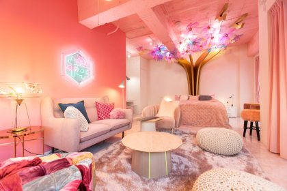 Check Out This Beautiful Cherry Blossom Themed Apartment