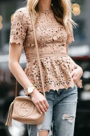 blusas encaje lace moda peplum tipos jeans colores tops mujer modernas outfits beige blogger jackson gucci ministry dallas street lush