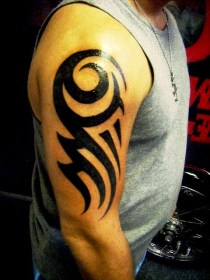 tribal tattoos tattoo arm simple easy piece biceps designs arms hand dragon flickr tato flower stunning right flash front tangan