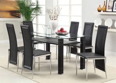 dining glass table sets tables square modern unique chairs chrome base aspen furniture contemporary current dinette efurniturehouse