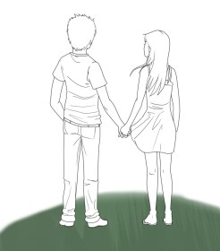 holding hands boy drawing anime getdrawings sketch