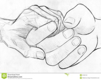 pencil boy drawing holding sketch hand getdrawings