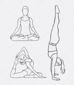yoga drawing sketch meditation mascot sport line sign web symbol icon any artistic getdrawings silhoutte want vector