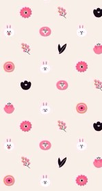 iphone phone kawaii cute wallpapers backgrounds brown cony friends sushi brow kunjungi getwallpapers