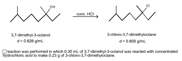 Solved: A Reaction Was Performed In Which 0 30 ML Of 3,7 d