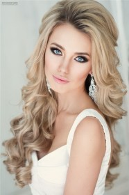 Down Bridal Hairstyles for Long Hair 6