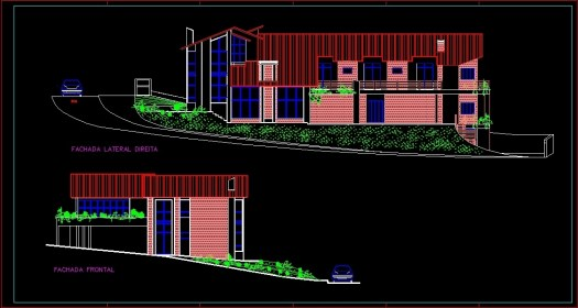 Complete Residence DWG Section for AutoCAD • Designs CAD