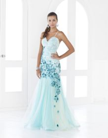 teal ombre prom ivory gown dresses blush gowns shoes embroidery tulle pretty emasscraft sophisticated elegant