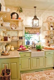 shabby chic kitchen decor designs accessories awesome kitchens shelves display curtain creative pretty