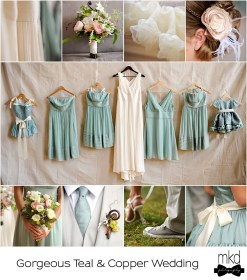 teal copper dresses colors gold bridesmaid rose dusty theme mkd flickr inspiration mkdphotography decorations aqua weddings summer turquoise