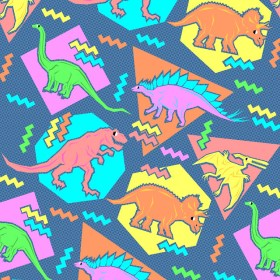 90s than better patterns undisputedly decade thing every did retro 90 80s pattern backgrounds dinosaur dinosaurs fabric