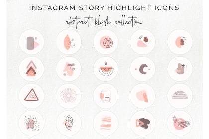 highlight instagram icons icon story blush abstract follow message designer