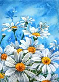 acrylic painting easy beginners paintings flowers beginner simple watercolor try feminatalk canvas acrilic techniques daisy visit