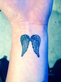 angel tattoo wings tattoos wrist designs wing meaning wrists unique left elegant ink inventive angels attractive flawssy tatoo rib tatoos